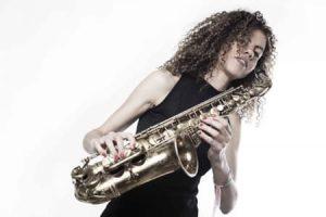 Saxofonist Sanne Landveugd